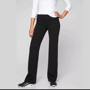 Athleta polartec fleece stretch pants black medium